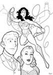 Silver Age Wonder Woman Trio Inks