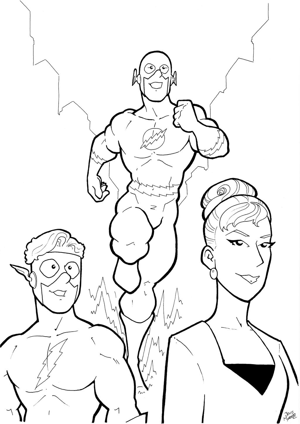 Silver Age Flash Trio Inks by BevisMusson