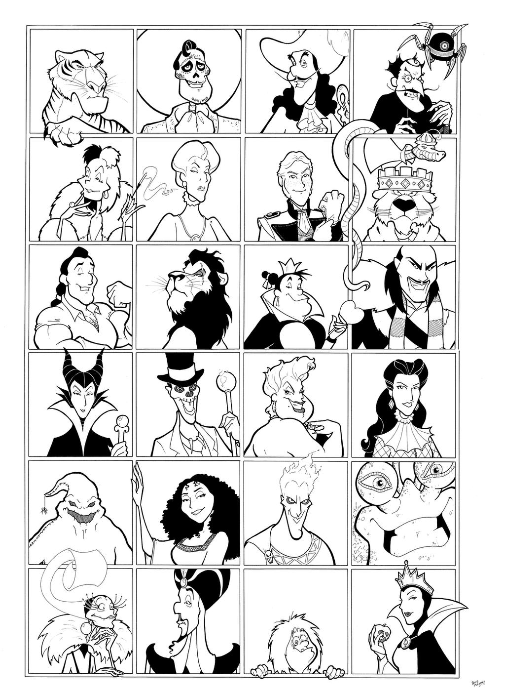 Disney Villains by BevisMusson