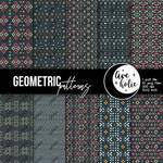 Geometric Digital Papers by AveholicD