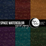 Space Watercolor Digital Papers by AveholicD