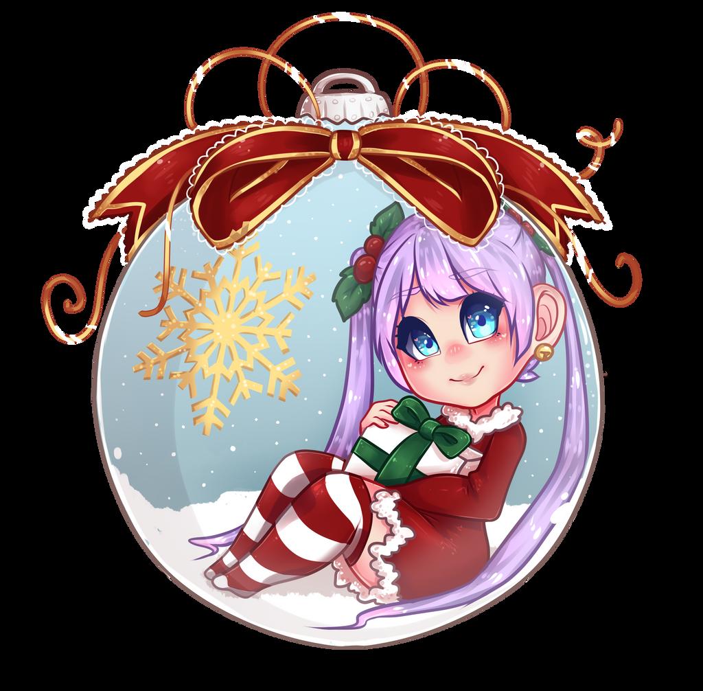Snow globe ornament by binnybun