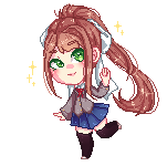 Monika pixel by binnybun