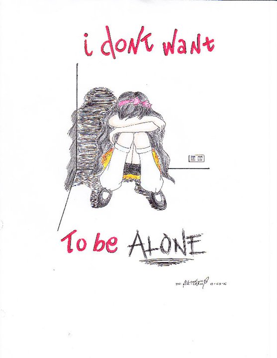 I Dont Want To Be Alone By Blackenix05 On Deviantart