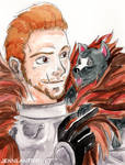 Cullen with Mabari Pup by ladylaguna