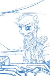 Sci-fi Pone Sketch Line by AmarthGul