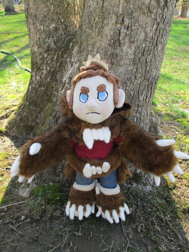 Bear King custom plush by blackrathmar
