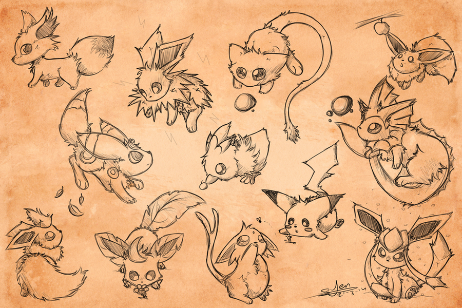 Sketchy Pokemon Adop Wallpaper by NezuPanda on DeviantArt