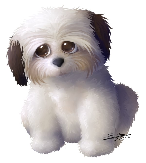 Commission Shih Tzu Dog By Nezupanda On Deviantart