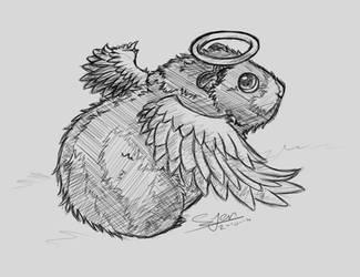 Sketch Commission - Kadaj by NezuPanda