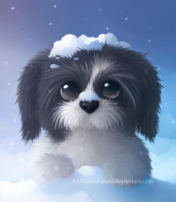 Beautiful Shih Tzu Anime Adorable Dog - shih_tzu_challenge_by_nezupanda-d8ascht  Image_42728  .jpg