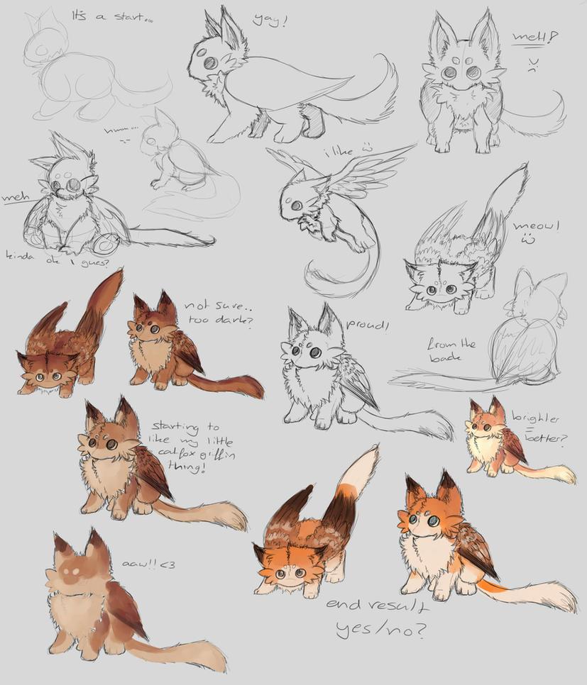 Character design process by NezuPanda