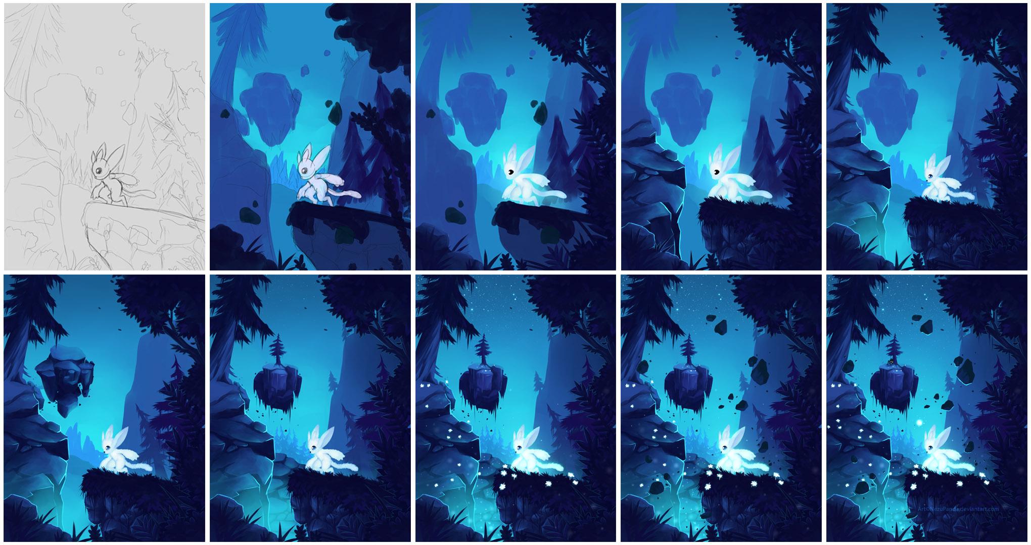 Progress - Lost without Light by NezuPanda