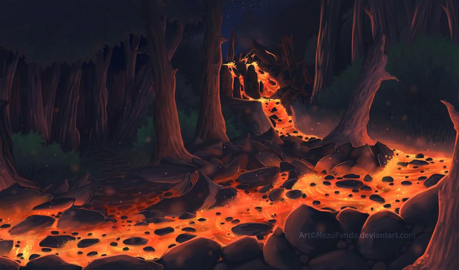 Commission - Burning flow by NezuPanda
