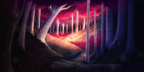 Commission - Falling leaves of Crimson
