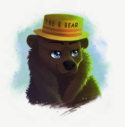 Commission - The B Bear by NezuPanda