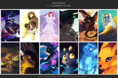 Art Summary 2018 by NezuPanda