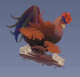 Commission - Rahma's razor feathers