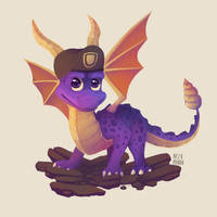 Commission - Spyro and his bill's hat