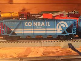 Conrail Coal hopper by Menards.