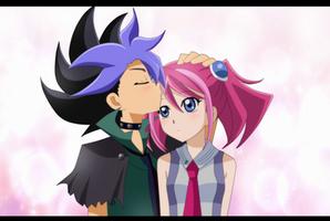 CP: hikariangelove : Yuzu and Dark duelist by HanasakiTsubomi
