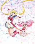 Super Sailor Moon  y Super Sailor ChibiMoon