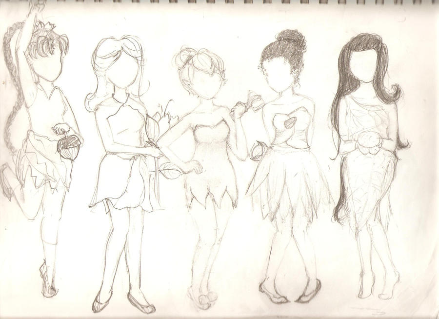 Disney fairies sketch by charokame on deviantart disney fairies sketch by charokame thecheapjerseys Image collections