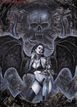 Heavy Metal Vampire girl