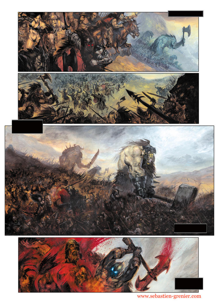 ARAWN: a page from the comic by sebastien-grenier