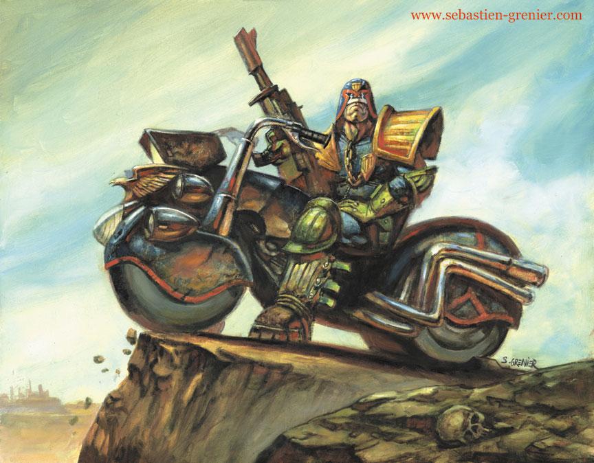 Judge Dredd by sebastien-grenier