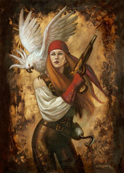 Pirate girl by sebastien-grenier