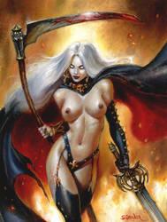 Lady Death by sebastien-grenier