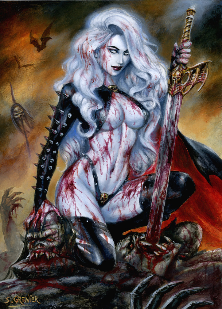 Lady Death' If you want blood...' by sebastien-grenier