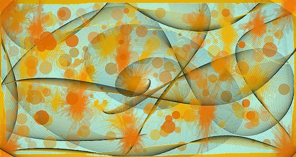 Digital Paint splotch Orange b by wolffoetowtech