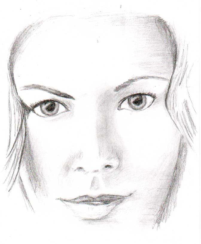 Female Face Sketch by veerwolf on DeviantArt