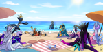 Beach Party [Collab] by AmethystAbyss