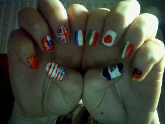 Hetalia Flag Nails by RandomNarutard on DeviantArt