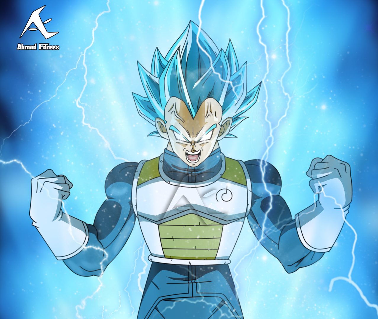 Vegeta Super Saiyan Blue Ssb By Ahmadedrees On Deviantart
