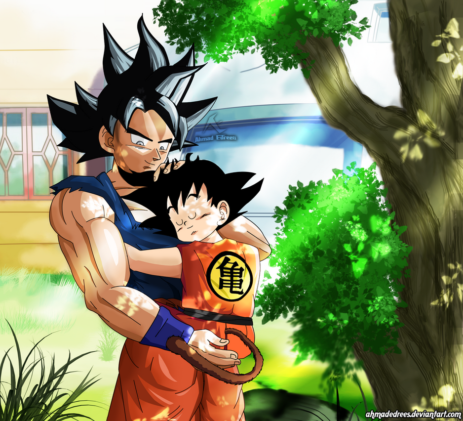 Dragon Ball Super Ultra Instinct Drawing: Kid Goku And Ultra Instinct By AhmadEdrees On DeviantArt