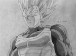 Vegeta ssj by AhmadEdrees