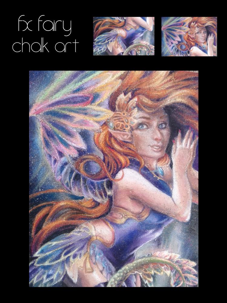 F.X. Fairy Chalk Art by SuicidalMuffins