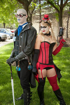 Steampunk Mr. Freeze and Harley Quinn
