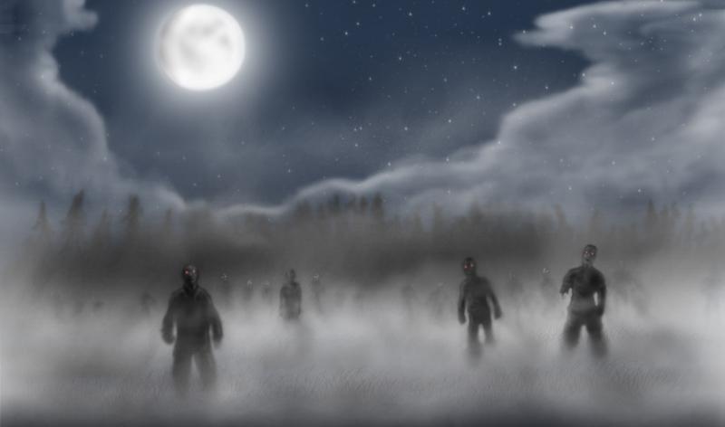 Shadows in the mist by Islandmountain
