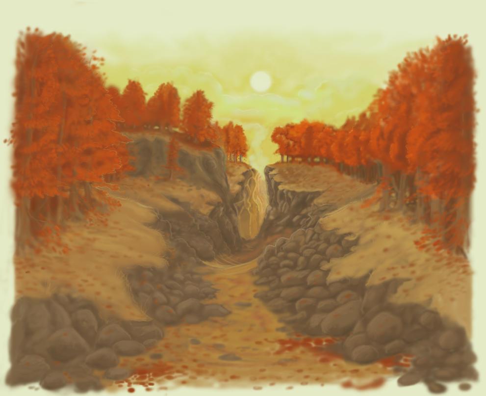 Autumn valley by Islandmountain