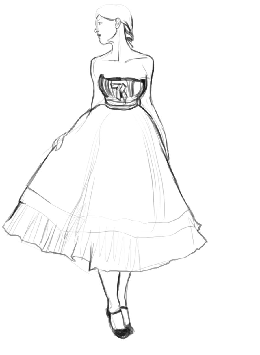 Princess dress outline coloring pages coloring pages for Coloring pages of pretty dresses