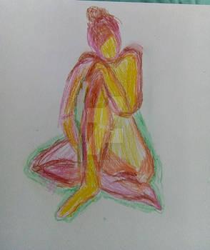 Crayon figure study