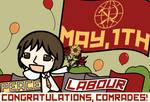 English Labour Day Postcard (Walfas Style)