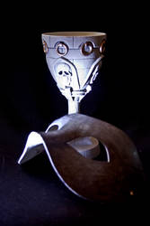 Mask and Skull Cup Stock Photo's 7 by darkprincewill