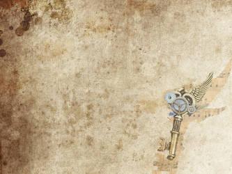 Simple Steampunk Key Wallpaper by Milkitaa