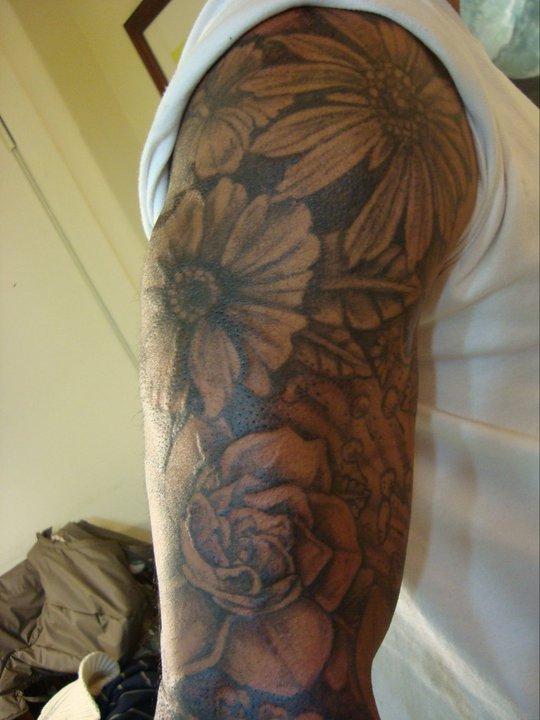 Hasaan's sleeve - sleeve tattoo
